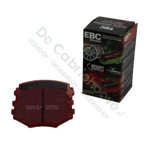EBC Remblokken Redstuff voorzijde 1.6l NA 90 pk, 1.8l NA 131 pk, 1.6l NB 110pk, 1.8l NB 140 pk