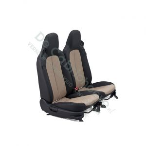 MX5 Set leren stoelen (zwart met lichtbruin geperforeerd) gemonteerd op stoel