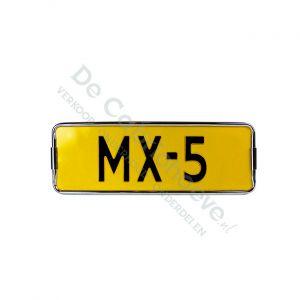 MX5 Kentekenplaathouder chrome 18.2