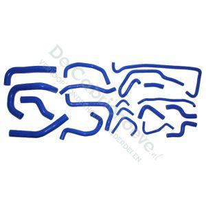 Set koelslangen silicone 1.8l en 2.0l blauw