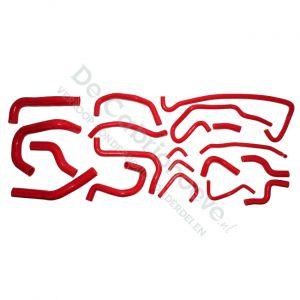 Set koelslangen silicone 1.8l en 2.0l rood