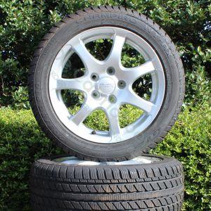 Set winterbanden op lichtmetalen Anzo wheels velgen (Gebruikt)