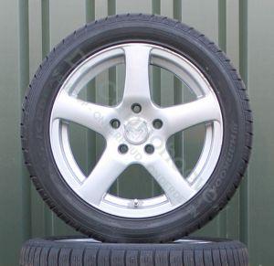 Set winterbanden op lichtmetalen GW Wheels velgen (Gebruikt)
