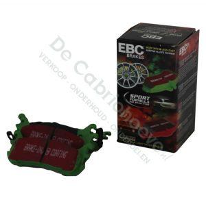 EBC Remblokken Greenstuff achterzijde 1.6l - 90pk ABS / 1.8l NA 131pk / 1.6l NB 110pk /1.8l NB 140pk