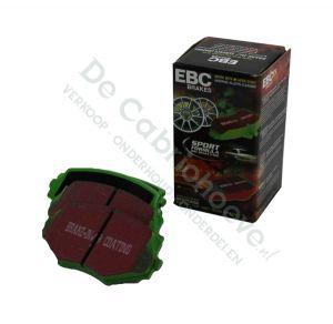 EBC Remblokken Greenstuff voorzijde 1.6l - 90 pk ABS / 1.8l NA 131 pk / 1.6l NB 110 pk /1.8l NB 140pk