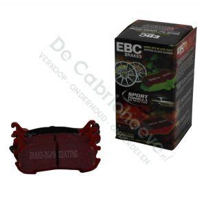 EBC Remblokken Redstuff achterzijde 1.6l NA 116 pk en (90 pk zonder ABS)