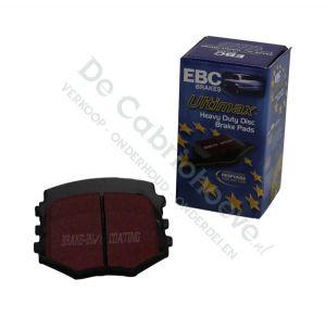 EBC Remblokken Ultimax voorzijde 1.6l of 1.8l NBFL met sportonderstel vanaf 2002